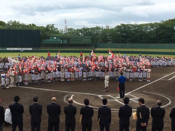 スポーツ少年団県大会でAチーム主将が選手宣誓!